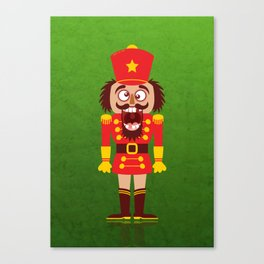 A Christmas nutcracker breaks its teeth and goes nuts Canvas Print