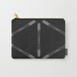 Industria Black Minimal Goth Style Carry-All Pouch