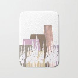 Pastel Mountains Bath Mat