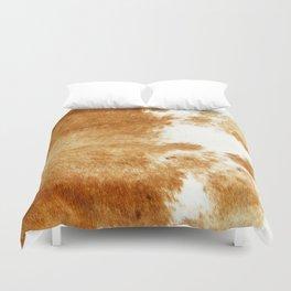 Golden Brown Cow Hide Duvet Cover