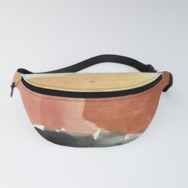 Abstract in Rust n Clay Fanny Pack