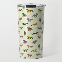 Off to the Horse Races (Mint) Travel Mug
