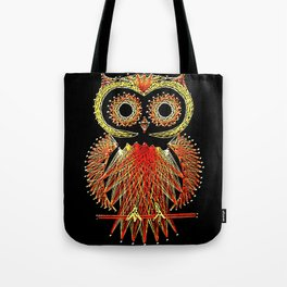 String Art Owl Tote Bag