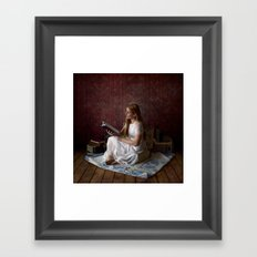 Reading Takes you Places - Book Lover's Fine Art Portrait Framed Art Print