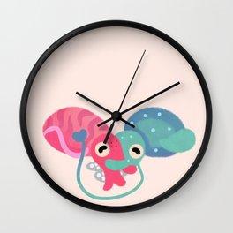 Water bloom / cuddlefish Wall Clock