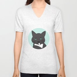 Meow, meow. Unisex V-Neck
