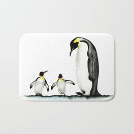 Three Penguins Bath Mat