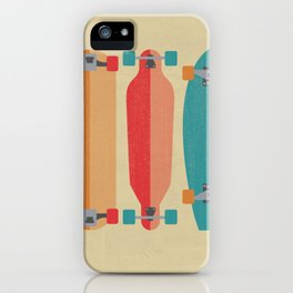 Three types of skateboards iPhone Case