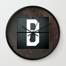 monogram schedule b Wall Clock