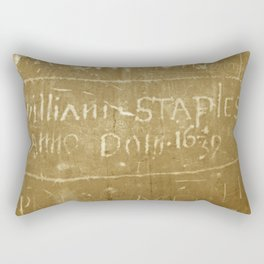 English Graffiti Rectangular Pillow
