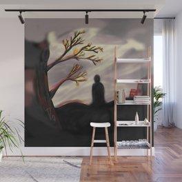 Dark Forest Scene Wall Mural