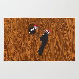 Pileated Woodpecker and Chick Rug