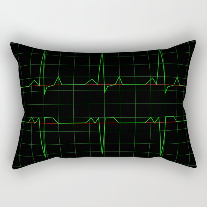Normal Heart Rhythm Rectangular Pillow