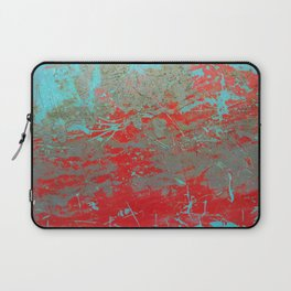texture - aqua and red paint Laptop Sleeve