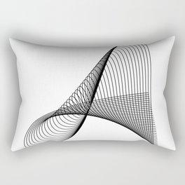 """Linear Collection"" - Minimal Letter A Print Rectangular Pillow"
