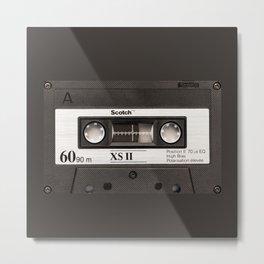Cassette Tape Black And White #decor #homedecor #society6 Metal Print