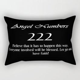 ANGEL Numbers 222 Rectangular Pillow