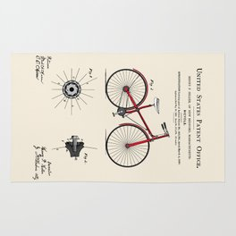 Bicycle Patent Rug