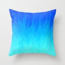 Icy Blue Blast Throw Pillow