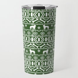 Golden Doodle fair isle christmas pet pattern minimal christmas sweater gifts Travel Mug