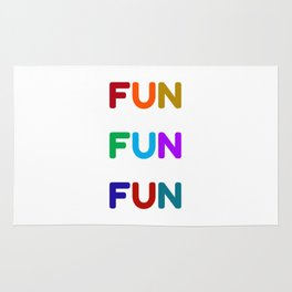 fun fun fun colorful design Rug