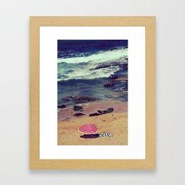 Retro style hot of Avalon beach Framed Art Print