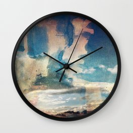 Spray Painting the Sunset Wall Clock