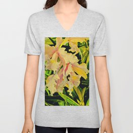 Two Cattleya Orchids Aloha Unisex V-Neck