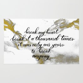 Break My Heart Rug