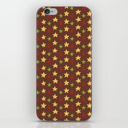 Yellow Christmas Star Ornaments iPhone Skin