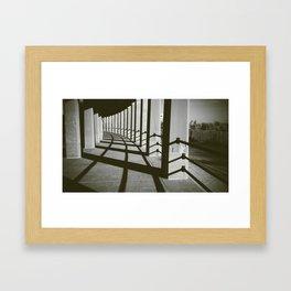 Column Shadows Framed Art Print
