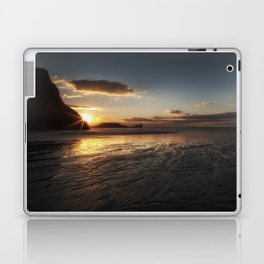 Sunset and wet sand at Worms Head Laptop & iPad Skin