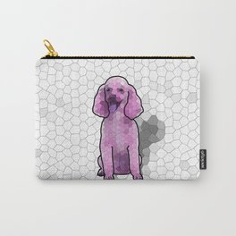 Poodle in Amethyst Mosaic Carry-All Pouch
