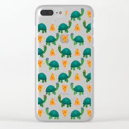 Turtles & Pizza Clear iPhone Case