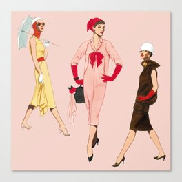 1950's Girls Canvas Print