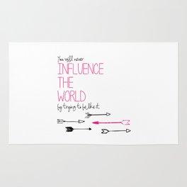 Influence the World Rug