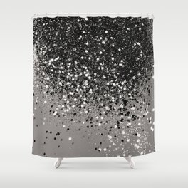 Silver Gray Glitter 1 Shiny Decor Art Society6 Shower Curtain