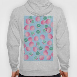 Funky Fun Lemons in Pink and Teal Hoody