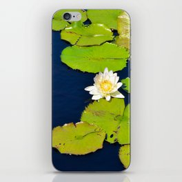 Dark Blue Pond by Teresa Thompson iPhone Skin