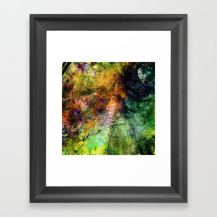 ink in wood Framed Art Print