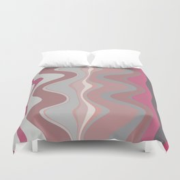 Distorted stripes in colour 4 Duvet Cover