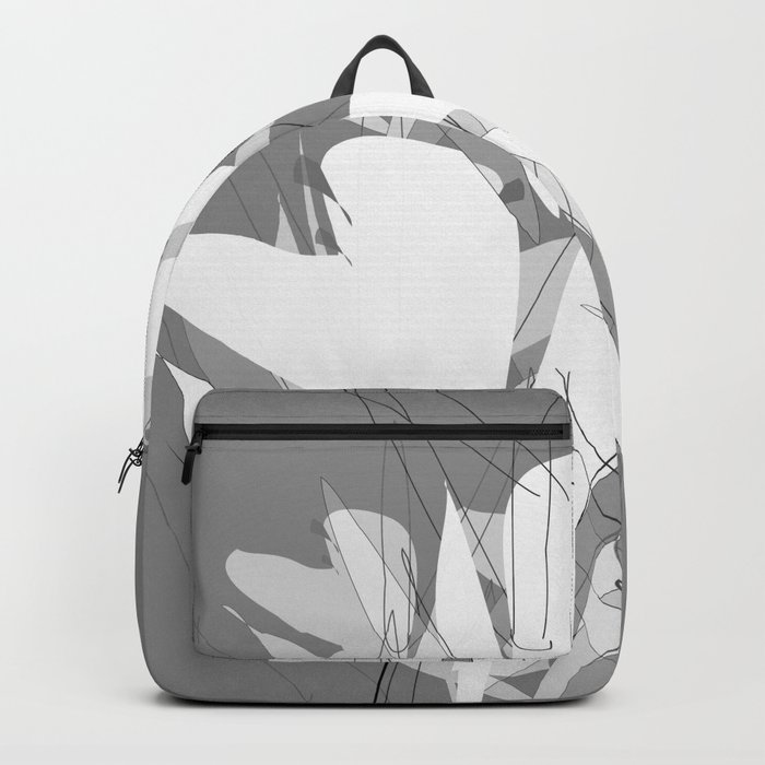 White Flowers  #society6 #decor #buyart Backpack