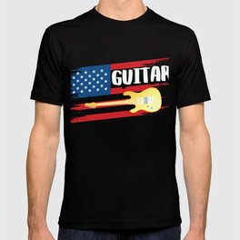 Shirt For Guitar Lover. Gift From Kids. T-shirt
