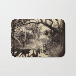 Live Oaks and Palmetto, Everglades, Florida, Vintage Bath Mat