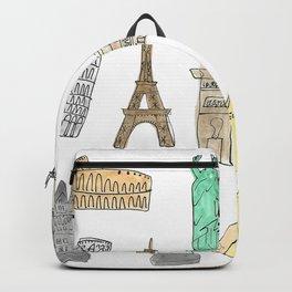 Illustrated landmarks Backpack