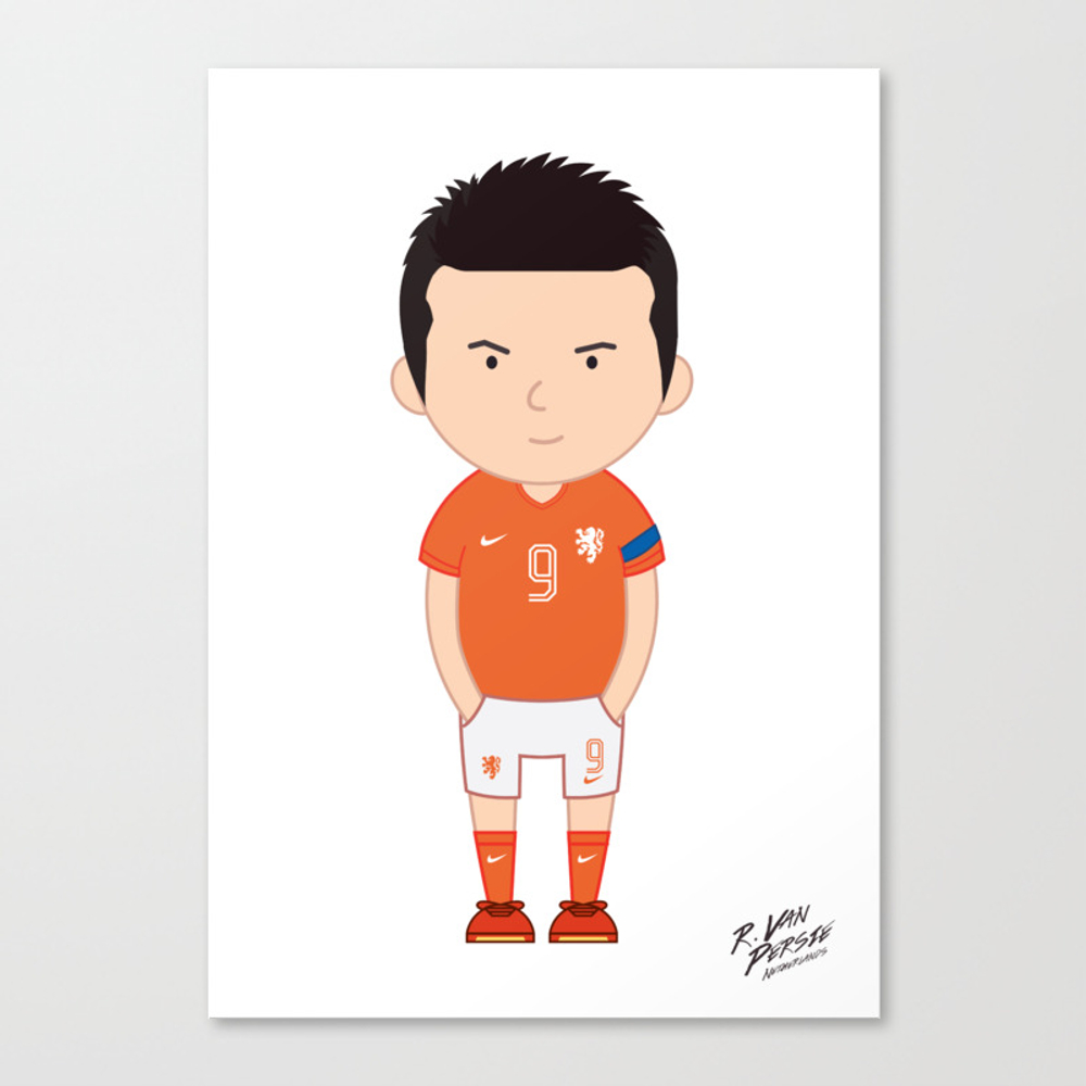 Robin Van Persie - Netherlands - World Cup 2014 Canvas Print by Toonsoccer CNV9019159