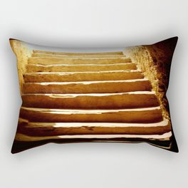 Steps to tomb Rectangular Pillow