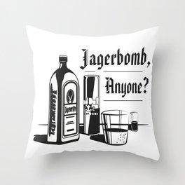 Jagerbomb, Anyone? Throw Pillow