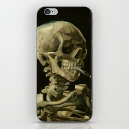 Vincent van Gogh - Skull of a Skeleton with Burning Cigarette iPhone Skin