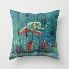 Elefly Throw Pillow